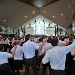 Whole school Haka performed for the Old Collegians.