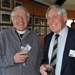 Rev Ralph Robertshawe and Hugh Barton (assistant housemaster 2000)