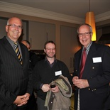 Headmaster Grant Lander, Owen Curnow (Hamilton 1977 - 1981) and Past Headmaster Michael Lawrence (1980 - 1991)