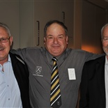 Grant Catchpole (Sargood 1964 - 1966), Ivan Posa (School 1966 - 1970) and President of the Old Collegians Association and Neil McKellar (School 1969 - 1973)