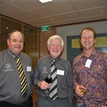 Ivan Posa (School 1966 - 1970), Pat Plant (Past Staff 1961 - 1997) and Paul Rennie (School/Williams 1972 - 1976)